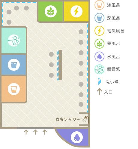 芋松温泉の平面図