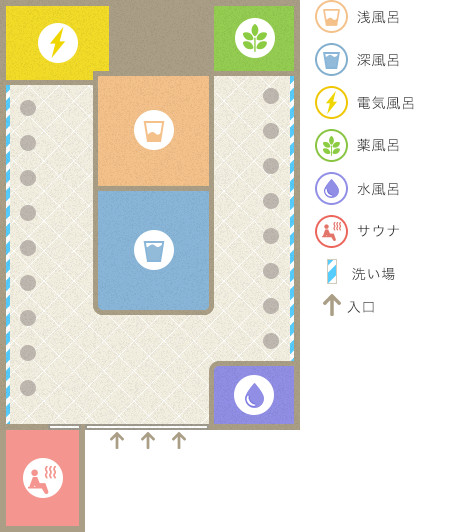 金龍湯の平面図