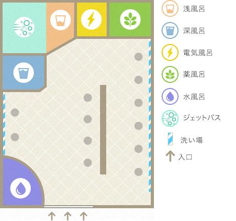 錦湯の平面図