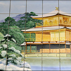 410円で芸術鑑賞。京都の銭湯にはタイル絵があります。