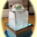 東寺の近く、日の出湯さんの脱衣所に『氷柱』登場で涼感体験♪